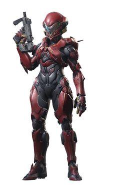 More awesome female armor design from Halo Guardians Halo 5, Halo Game, Armor Concept, Concept Art, Armadura Sci Fi, Halo Cosplay, Halo Armor, John Rambo, Arte Sci Fi