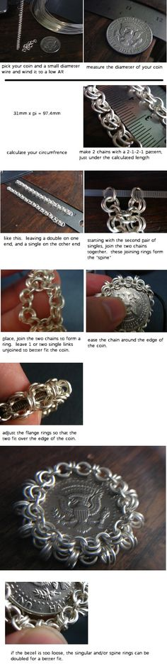 how to make the chain bezel. basically a Japanese weave.