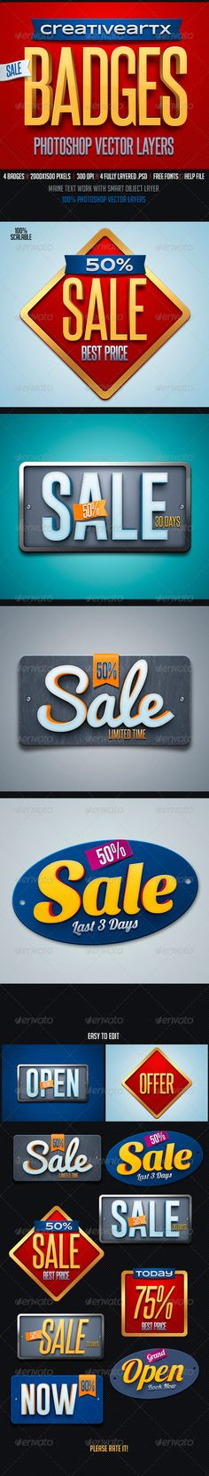 Sale Badges Template | Buy and Download: http://graphicriver.net/item/sale-badges/8217471?WT.ac=category_thumb&WT.z_author=creativeartx&ref=ksioks