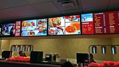03 mar digital menu boards: the perfect value combo for operators and consumers alike Menu Digital, Digital Menu Boards, Menu Board Design, Menu Design, Resturant Interior, Digital Signage Solutions, Coffee Poster, Healthy Living Quotes, Fun Snacks For Kids