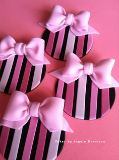 Fashion and pink cupcake/cookie toppers por CakesbyAngela en Etsy