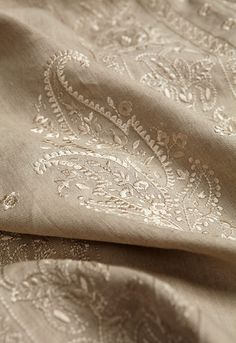 Beige Paisley - Martyn Lawrence Bullard for Schumacher Beige, Taupe, Jaipur, Fresh Farmhouse, Textiles, Paisley Pattern, Paisley Design, Paisley Fabric, Pattern Print