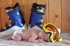 Baby photo- little ski bum