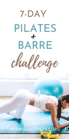 7-Day Pilates & Barre Workout Plan - Beauty Bites Barre Workout Video, Cardio Barre, 15 Minute Workout, Pilates Workout, Workout Videos, Exercise, Pilates Routines, Body Workouts, Pilates Challenge