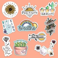 A portion of profit from these stickers is donated to the mental health awareness charity Active Minds. Stickers Cool, Tumblr Stickers, Printable Stickers, Laptop Stickers, Journal Stickers, Planner Stickers, Collage Mural, Homemade Stickers, Aesthetic Stickers