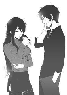 Couple - Orihara Izaya X Yagiri Namie DRRR monochrome