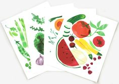 A great set of prints to frame and hang up in the kitchen. www.mooreaseal.com