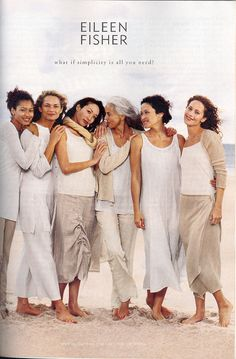 Eileen Fisher, old ad campaign for summer, via Google search