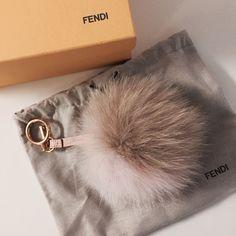 Fendi Bicolor Foxfur Pompom Keyring Instagram: museedemarais