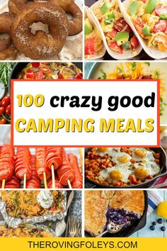 Best Camping Meals, Camping Meal Planning, Camping Food Make Ahead, Camping Lunches, Camping Menu, Camping Breakfast, Camping Dinner Ideas, Camp Meals, Camping Foods