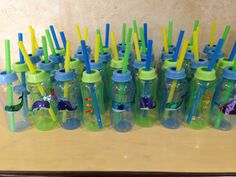Under the Sea baby shower. Purchased bottles at Dollar Tree, used various fish and whale stickers.