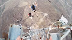 GoPro posted video of Bay Area daredevil Mark Broderick performing a truly impressive nine somersaults while BASE jumping off a tower. The video also features helmet cam footage for those who aren'...