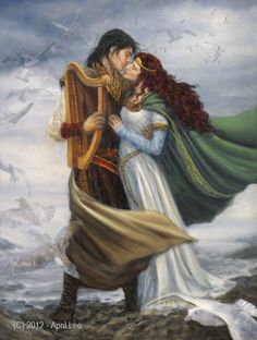 April Lee - Tristan and Isolde Kiss Painting, Stencil Painting, Art Of Love, Art For Art Sake, Dream Fantasy, Fantasy Art, Tristan Et Iseult, King Arthur Legend, Romeo Y Julieta