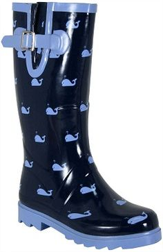 Tiny whales from Chooka Wellies Boots, Shoe Boots, Mud Boots, Baskets, Preppy Girl, Rain Gear, Chanel, Crazy Shoes, Sock Shoes