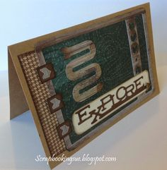 """Scrapbooking Sue: """"Explore"""" Card with Timberline Papers. Close To My Heart (CTMH). www.scrapbookingsue.blogspot.com"""