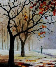 Leonid Afremov Winter | Leonid Afremov