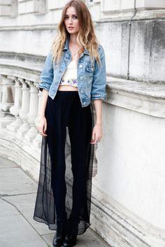 sheer skirt!