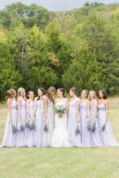 Rustic wheat fall wedding, lavender bridesmaid dresses, wheat bouquets and corsages Lavender Wedding Theme, Floral Crown Wedding, Fall Wedding Colors, Purple Wedding, Dream Wedding, Wedding Flowers, Summer Wedding, Lilac Bridesmaid Gowns, Fall Wedding Bridesmaids