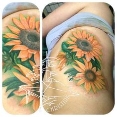 I cannot explain my love of sunflower tattoos. Seriously, this only came to my attention because of Pinterest.
