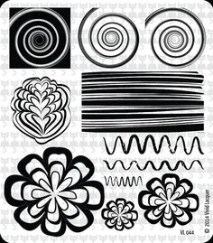 Vivid Lacquer Nail Art Stamping Plate VL 044 Water marbling effect flower swirl stripes