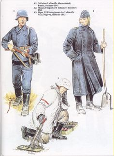 Ww2 Uniforms, German Uniforms, Military Uniforms, Luftwaffe, Eastern Front Ww2, German Army, Military History, World War Two, Troops