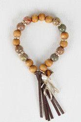 Antler Charm Beaded Bracelet