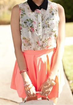 Floral and Coral.  (oops, i'm a poet and i don't even know it!)