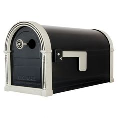 Large Heavyduty Poly Hudson Mailbox Post Mount Weather Resistant Polymer Black