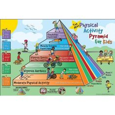 Fitness for Life Physical Activity Pyramid for Kids Poster: Charles Corbin: 9780736091527: Amazon.com: Books