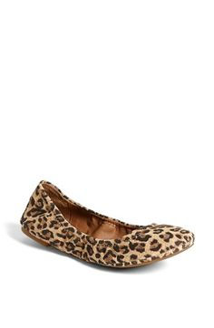 Because everyone needs a pair of comfy ballet flats and who doesn't love animal print. Lucky Brand 'Emmie' Flat available at #Nordstrom