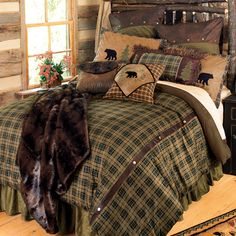 Rustic Themed Bedding | ... decor rustic lighting western furniture western benches rustic kitchen
