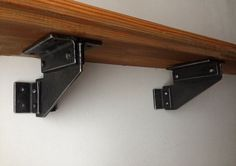 """Here I introduce you a new design! Small hand forged shelf corbels. Industrial style, rustic look that will make great addition to your home!  I only use traditional blacksmithing techniques in my works making contemporary look. No welding and etc.  Standard brackets dimensions: 3 x 3 3 x 4"""" 4 x 4 4 x 5  Hot beeswax finish.  The bigger dimensions is also available, please have a look at another listing.  The bracket has eight holes. Fasteners are not included…"""