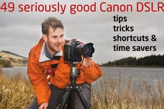 49 seriously good Canon DSLR tips, tricks, shortcuts and time savers: learn how to set up and use your Canon EOS cameras smarter, faster and more efficiently.