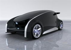 Toyota Fun-Vii Concept Car - shown without customisation. The interior and exterior can be customised to display graphics and text