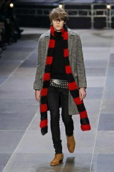 Saint Laurent Menswear Fall Winter 2013 Paris - NOWFASHION
