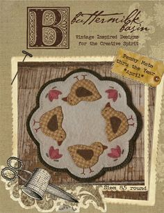 Candle mat - cute, cute chickies!