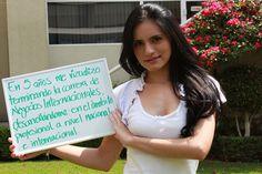 Grecia González, estudiante de la Prepa UNITEC