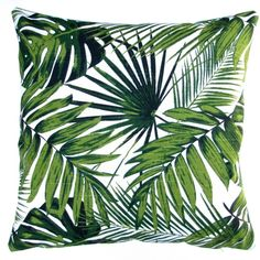 This throw pillow features a soft cotton cover with an attractive tropical print. The polyester pillow insert is extremely soft, very bouncy, light, and very resilient. Pillow insert: Conjugated-slick