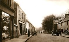 The Castle New Cumnock, showing the Castle Hotel on the Right around the - 1920's