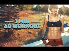 3 Minute Ab Workout (GET FLAT ABS FAST!!) - YouTube