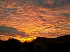 Arizona sunrise in the Fall