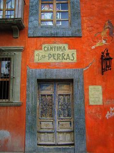 cantina las perras (san miguel de allende, gto, mexico) by Donna Cleveland – color of life Cool Doors, Unique Doors, Door Knockers, Door Knobs, In China, Mexican Style, Closed Doors, Doorway, Entrance Doors