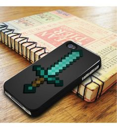 Minecraft Green Mint Sword iPhone 5|iPhone 5S Case