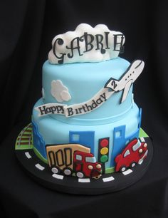 Transportation Theme Cakes: especially SF AC Transit Buses and MUNI on ...