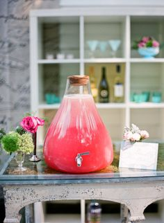 Drink dispenser very very similar to our three. match the colour of drinks to your colour pallet