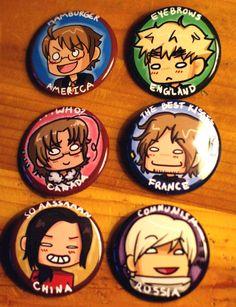 Hetalia~ omg I want these so bad! Hetalia Funny, Hetalia Fanart, Usuk, Kaichou Wa Maid Sama, Anime Merchandise, Yuri On Ice, Awesome Anime, Otaku, Geek Stuff