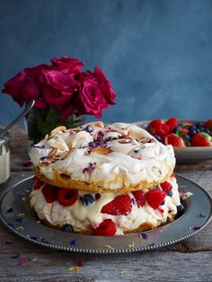 Cakes Archives - Food On Table Norwegian Cake Recipe, Pavlova, Sweet Desserts, Cake Cookies, Afternoon Tea, Cake Recipes, Cheesecake, Goodies, Food And Drink