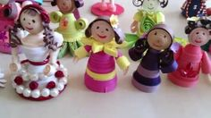 My Paper Quilling Doll creations Quilling Dolls, Paper Quilling, Paper Art, Christmas Ornaments, Holiday Decor, Birthday, Creative, Fairy, Crafts