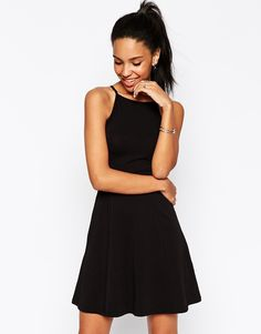 $27, Asos Collection 90s Skater Dress With High Neck. Sold by Asos. Click for more info: https://lookastic.com/women/shop_items/275495/redirect