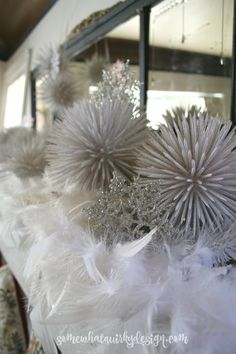 Somewhat Quirky: Christmas Tour 2015 toothpick balls White Christmas, Christmas Wreaths, Christmas Decorations, Holiday Decor, Christmas Ideas, Wonderful Time, Tours, Ceiling Lights, Dining Room